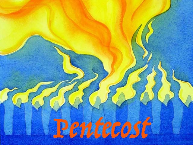 Pentecost: themes of Holy Spirit setting communities and individuals afire to dream and act, to be heard and understood.