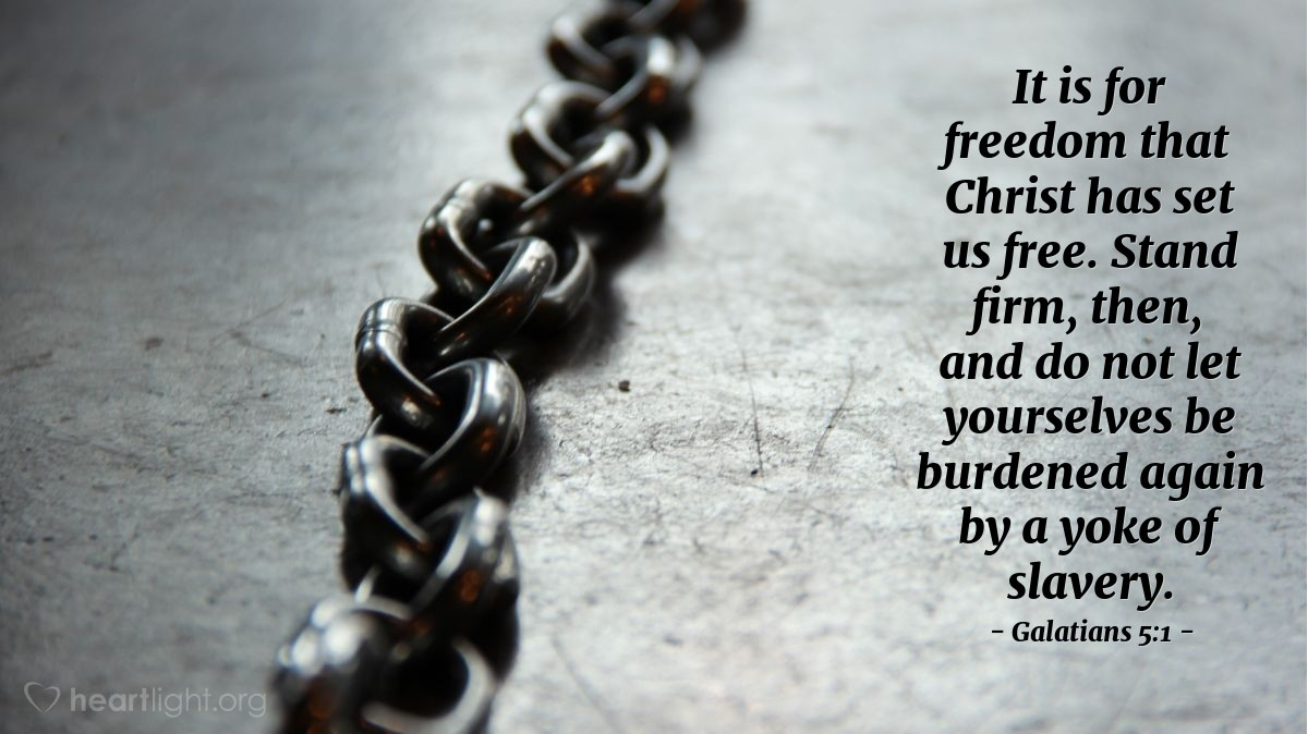 Reflecting on holistic choices: freedom, slavery, and fruits of the spirit from Paul's letter to Galatians.